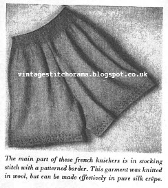 Free Pattern 1940's Knitting - French Knickers