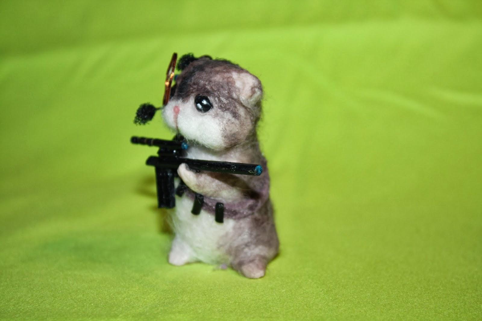ooak criceto hámster topolino mouse topo polimery clay miniature animal handmade