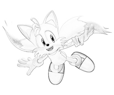 Shadow sonic hedgehog coloring pages for Sonic and tails coloring pages