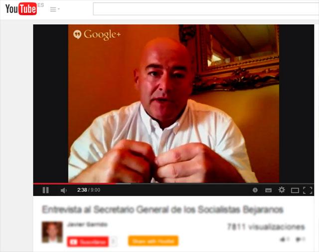 captura youtube de las entrevistas  Javier Garrido Novoa