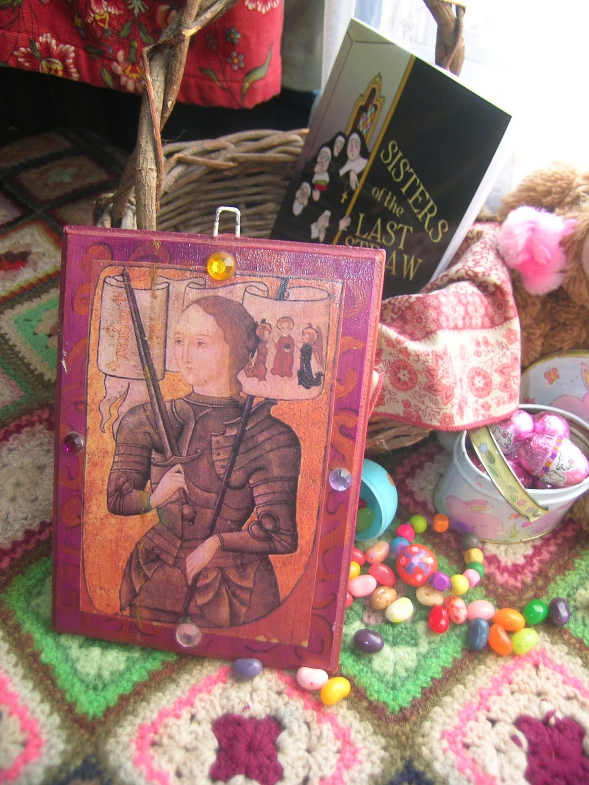 House art journal easter basket tour 2014 little girls easter obscure patron saint no problem google download and print a pretty image of the saint that bears your daughters name and glue to an inexpensive plaque negle Choice Image