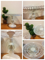 Circle Pedestal White Trays