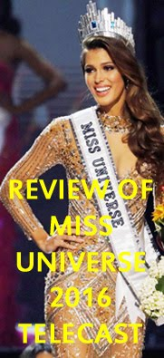 REVIEW OF MISS UNIVERSE 2016 TELECAST