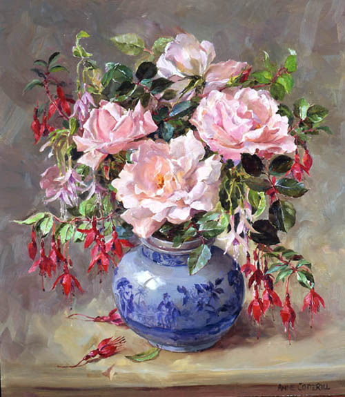 Anne Cotteril - Page 2 Roses-and-fuchsias-print-on-canvas