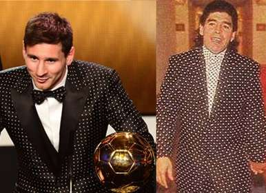 Messi usó el mismo traje de Maradona