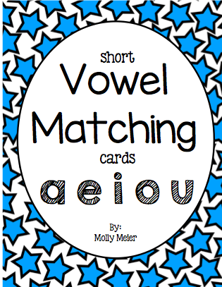 Vowel Matching Cards