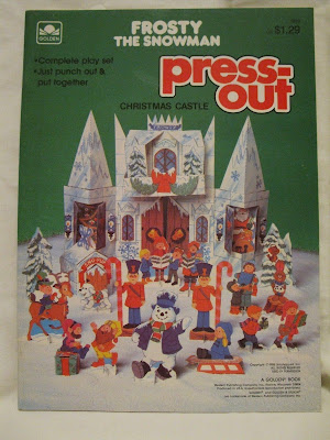 I Adore The Paper Castle Thats Part Of This Press Out Frosty Snowman Set Didnt Know Golden Books Made Models