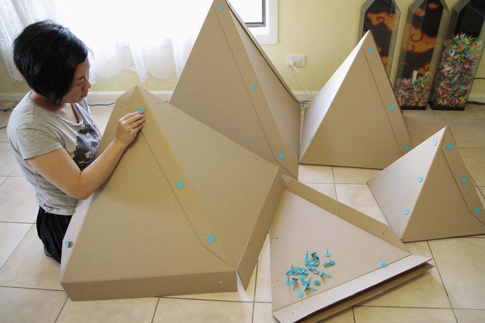 Ideias f ceis e diferentes para o natal 2012 for Arbol de navidad con cajas de carton