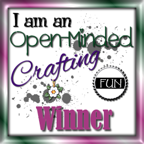 Open Minded Crafting Winner