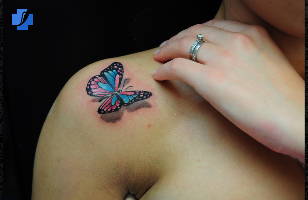 Joseph Scissorhands Butterfly Tattoos