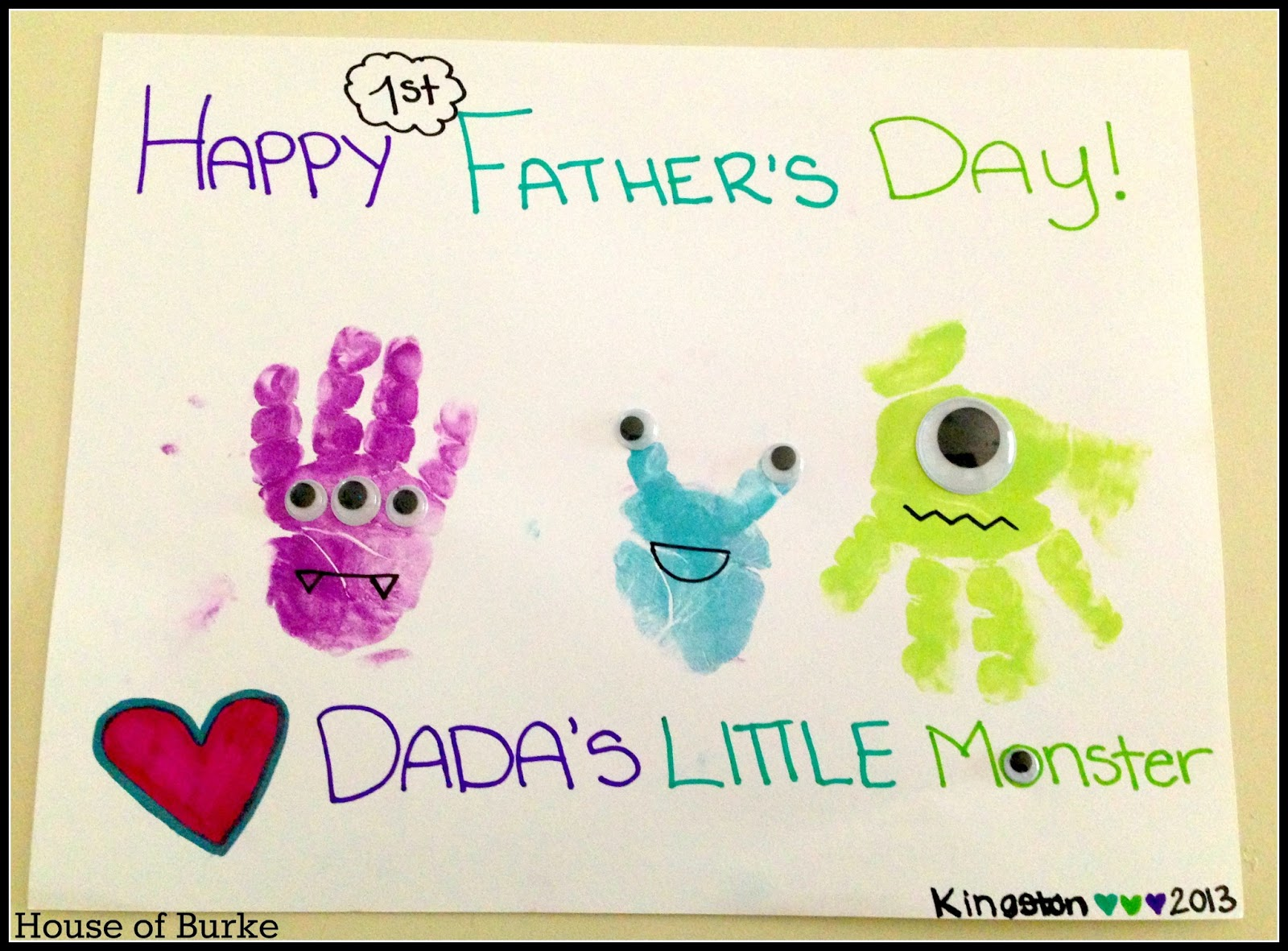 House of burke 1st father 39 s day projects for Crafts for little kids