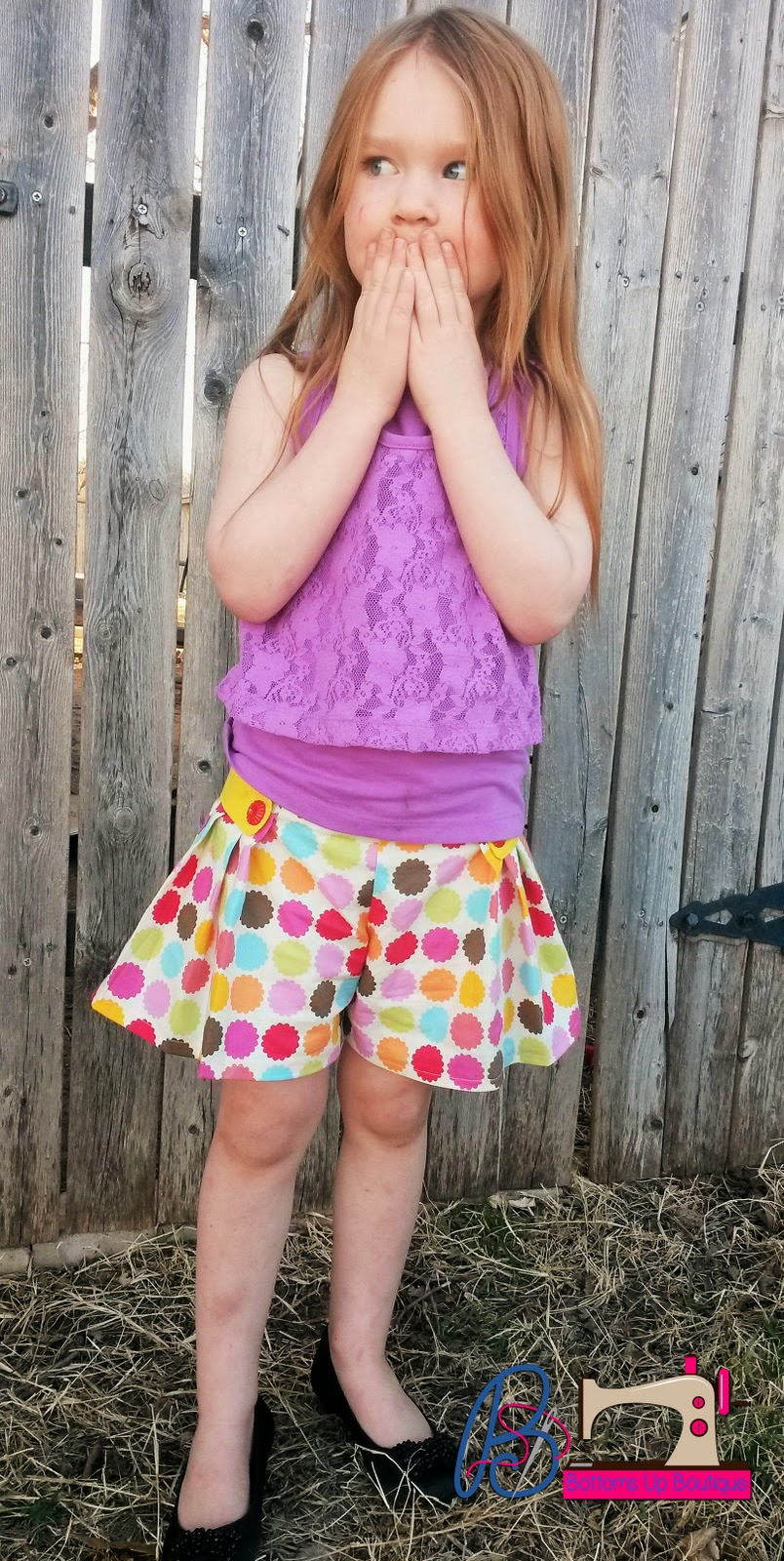 Tally Pleated Skirt and Shorts PDF Pattern by GYCT