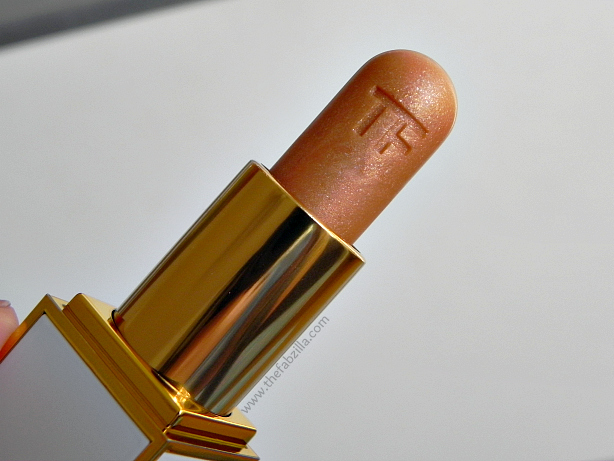 tom ford lip color summer shimmer, solar gold, review, swatch