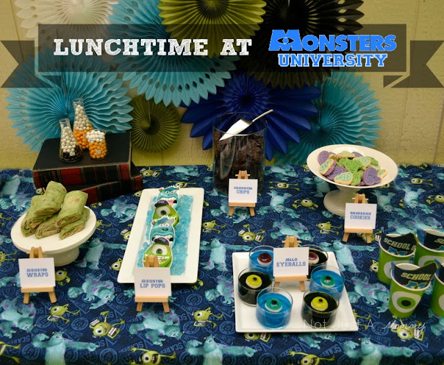 Monsters University lunchtime table