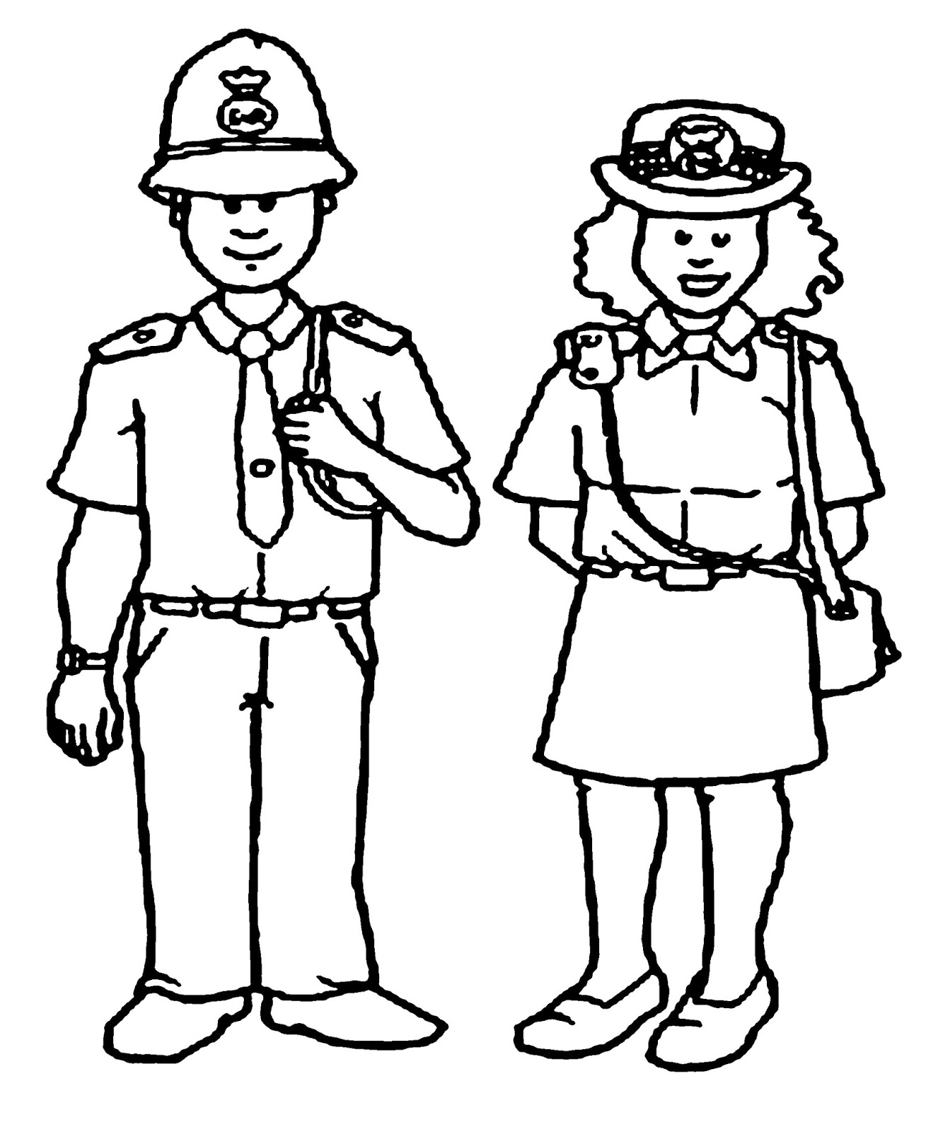 Coloring pages jobs - Source Police Image For Coloring Pages