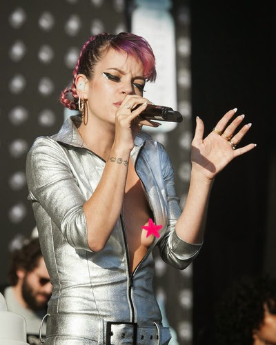 Lily Allen in the V Festival