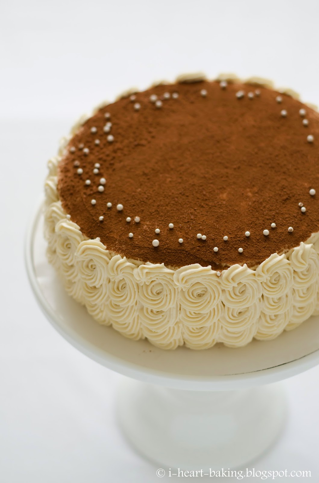 heart baking!: tiramisu birthday cake with piped swirl ruffle sides
