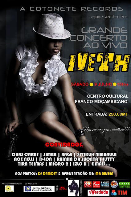 GRANDE CONCERTO AO VIVO DA IVETH | 09 JULHO | CCFM | 19H |