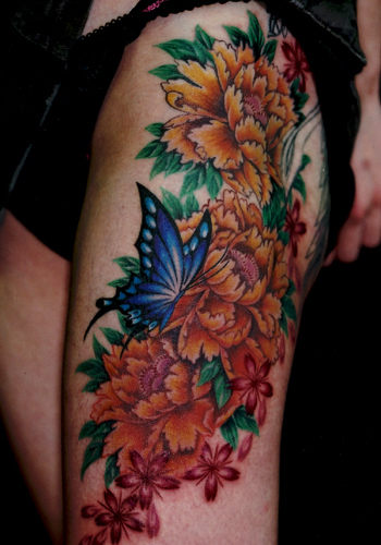 Art Sci Flower Tattoo Design Ideas