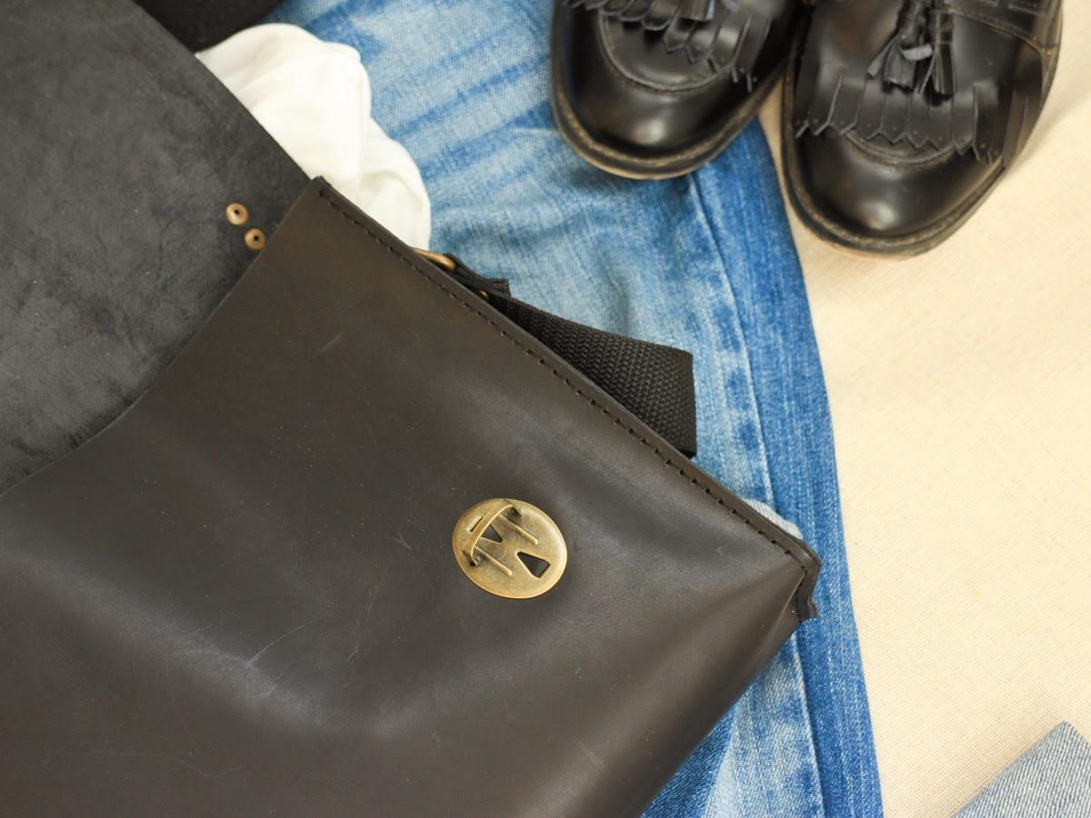 Компактный кожаный портфель