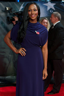 Alexandra Burke Purple Dress