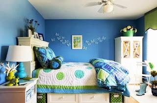 cuarto juvenil azul verde