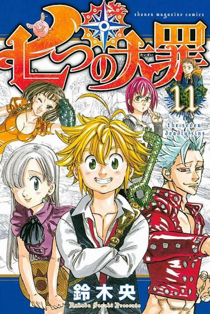 Okładka mangi Nanatsu no Taizai (The Seven Deadly Sins)