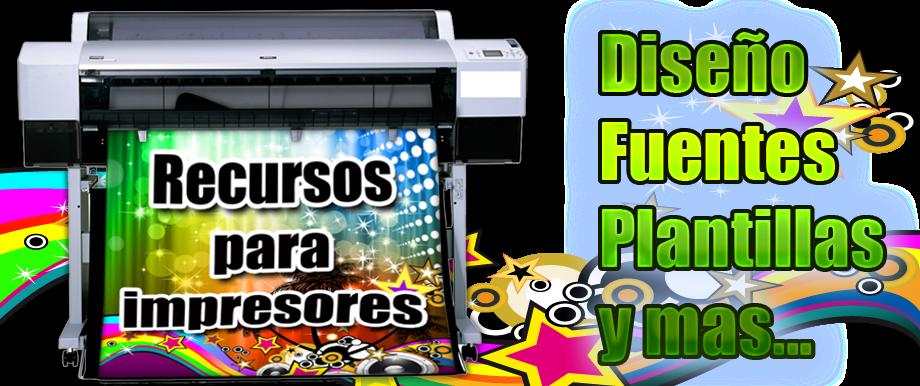 Recursos para impresores y diseñadores.