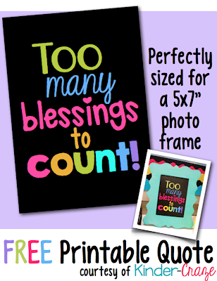 free classroom blessings printable decoration sign