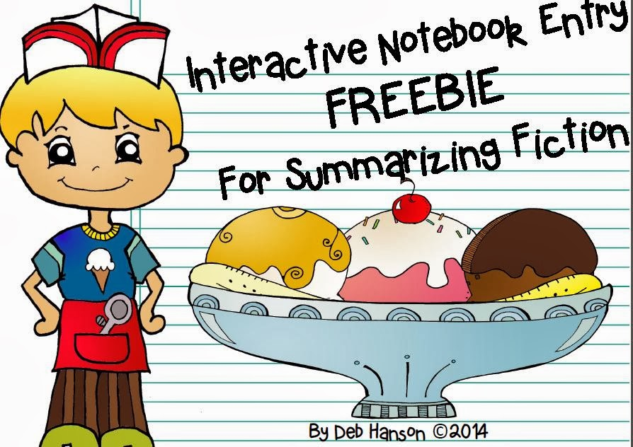 http://www.teacherspayteachers.com/Product/Interactive-Notebook-Entry-FREEBIE-A-Sundae-Summary-for-fiction-1112973