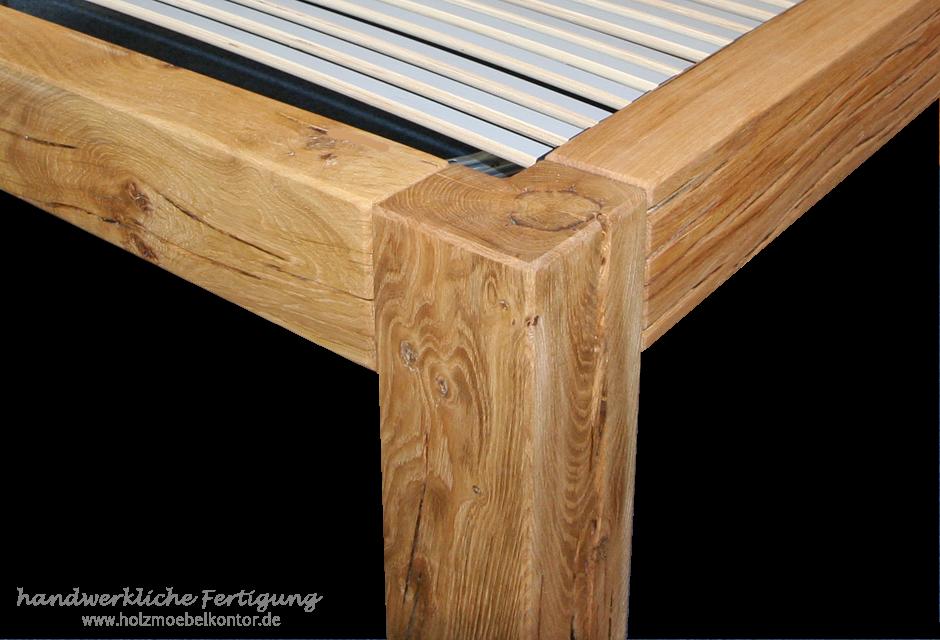 Betten aus Holzbalken • Massivholz Qualität: Balkenbett