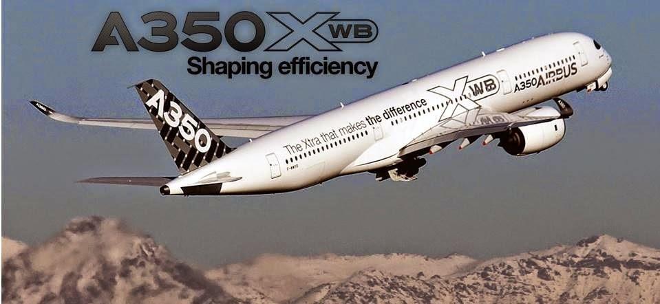 Airbus A350XWB por primera vez en Santiago de Chile