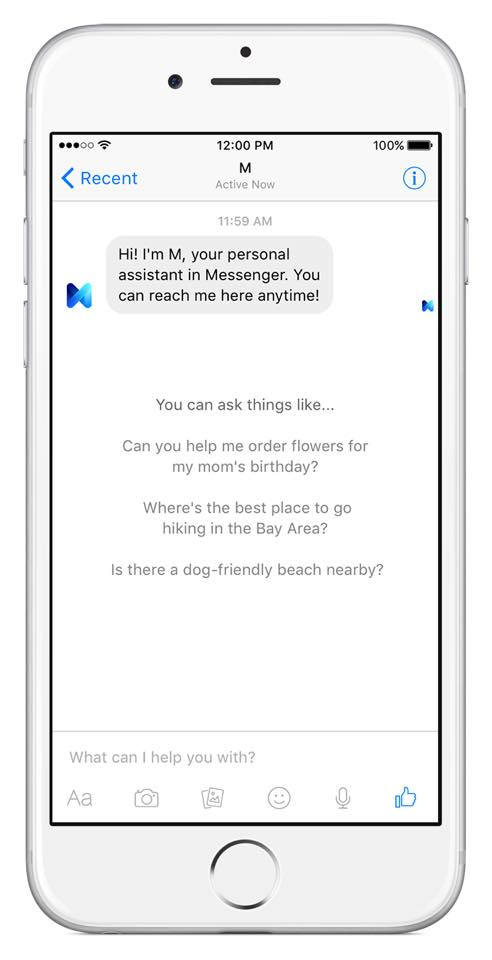 News Update On AI Based Virtual Assistant : Facebook Launches Its New Virtual Assistant 'Facebook M'