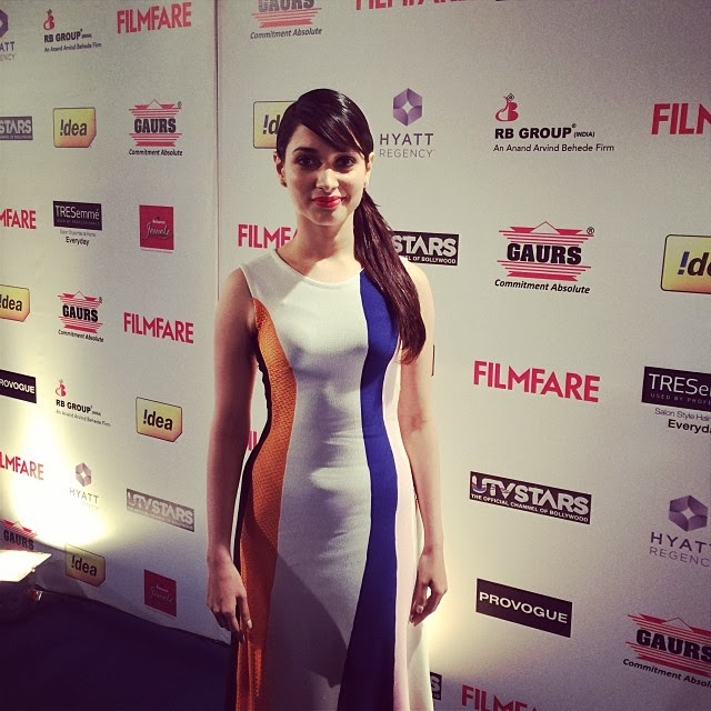 The stunning Tamannaah has arrived at the Filmfare Awards party