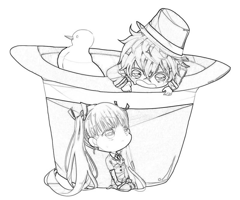 Luca Chibi Coloring Pages With
