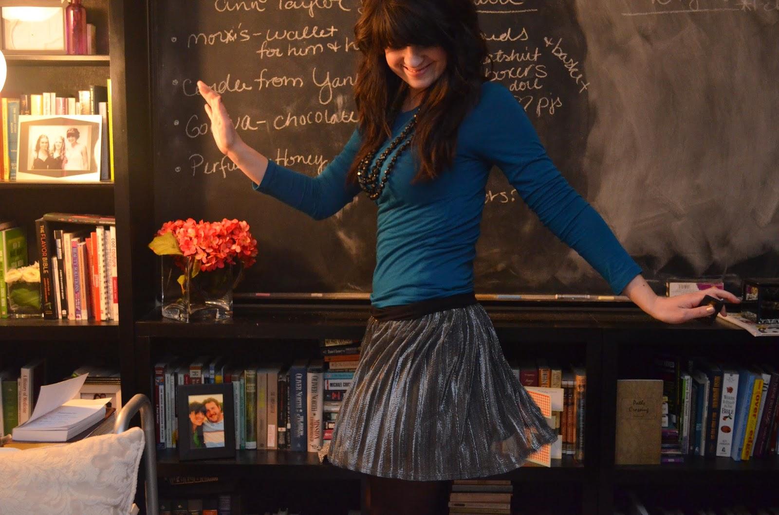 Another metallic twirly skirt