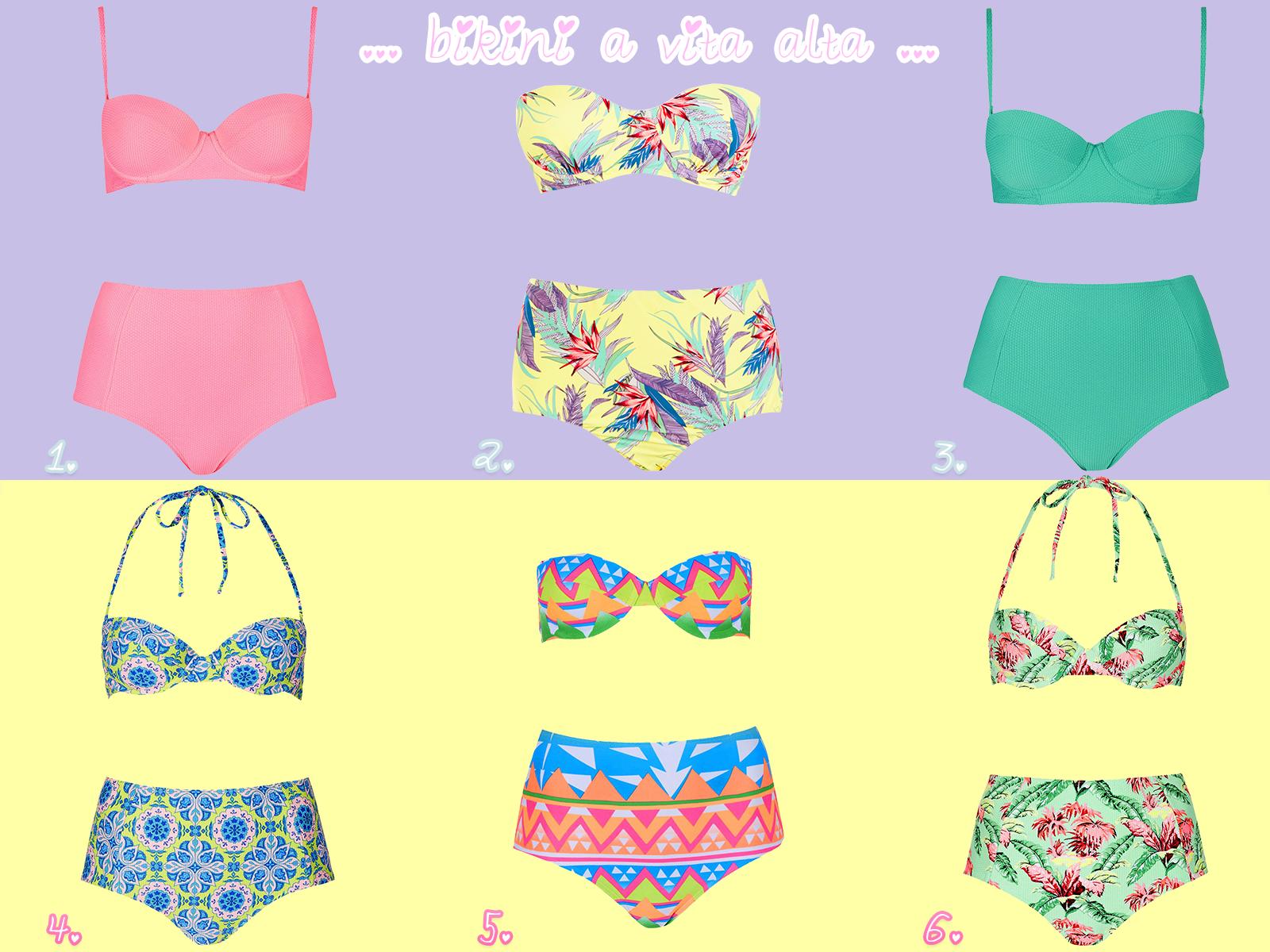bikini vita alta