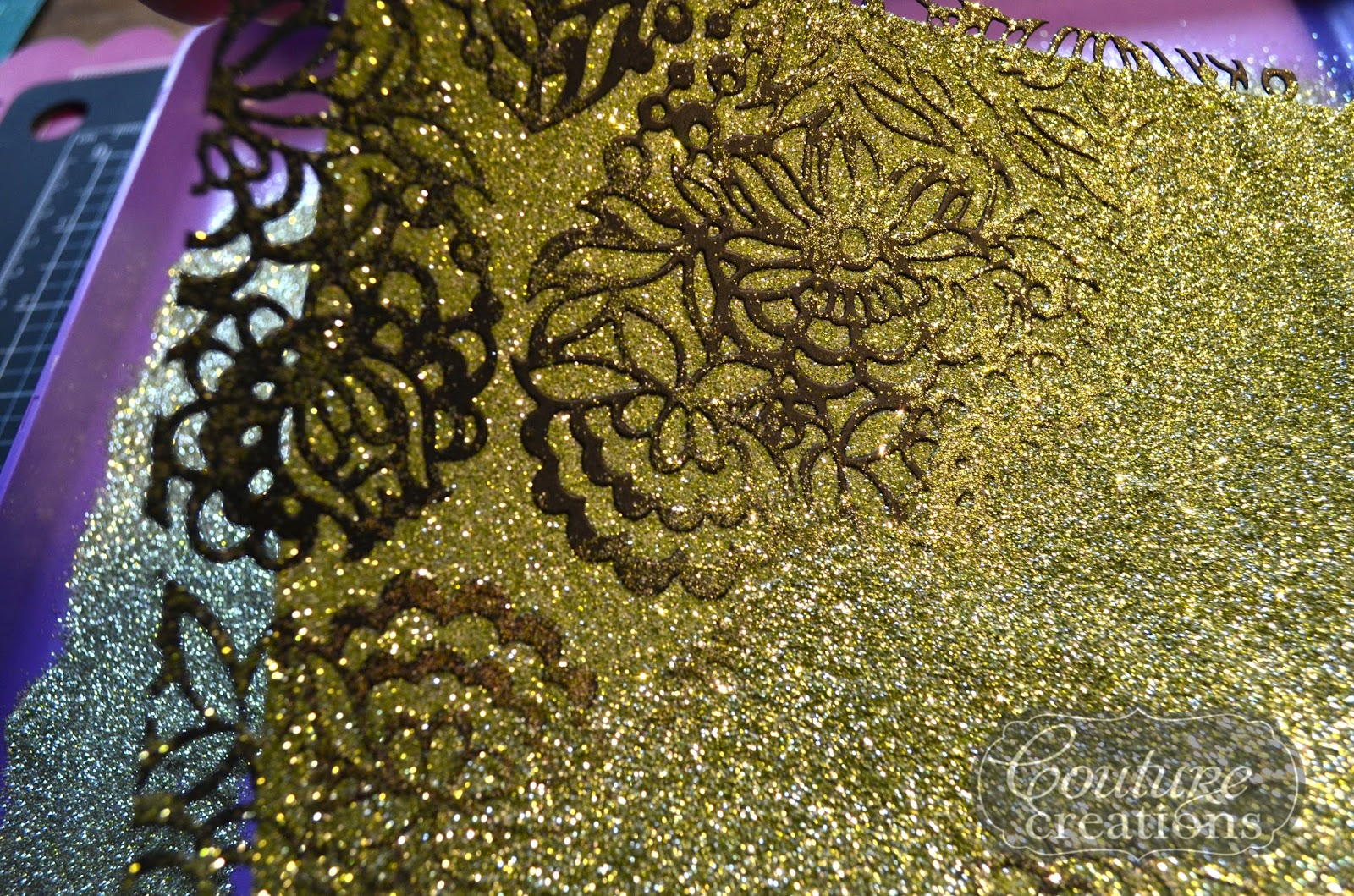 how to get glitter off your pazzles mat
