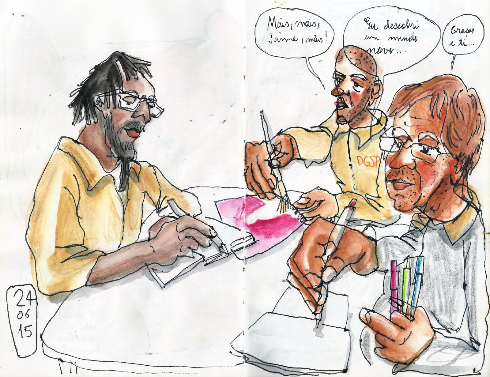 Lecture 8: Drawings Inside a Prison | Urban Sketchers