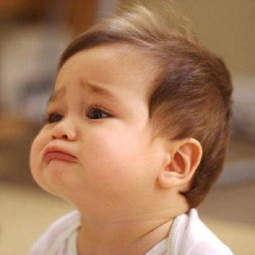 Photo bébé triste
