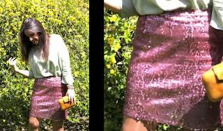 Falda de lentejuelas para fiesta paso a paso
