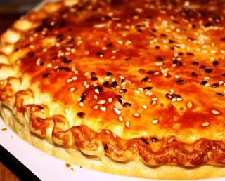 Пирог с курицей,грибами и сыром