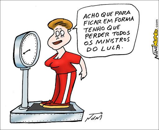 Dilma e os ministros de Lula