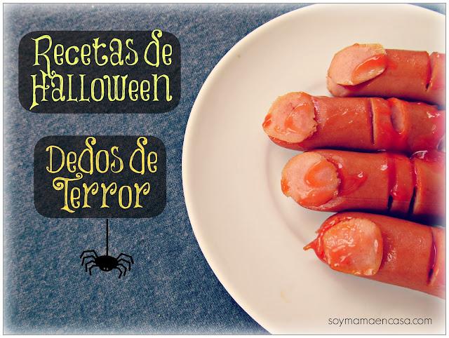recetas para halloween: dedos de terror