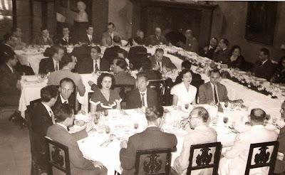 Comida de despedida del Match Internacional de Ajedrez Interclubs 1951 - Bas, Sola y Colomer