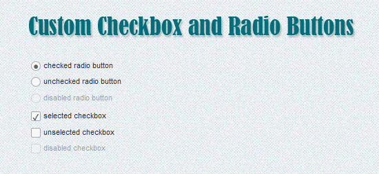 Custom Checkboxes and Radio Buttons with CSS3