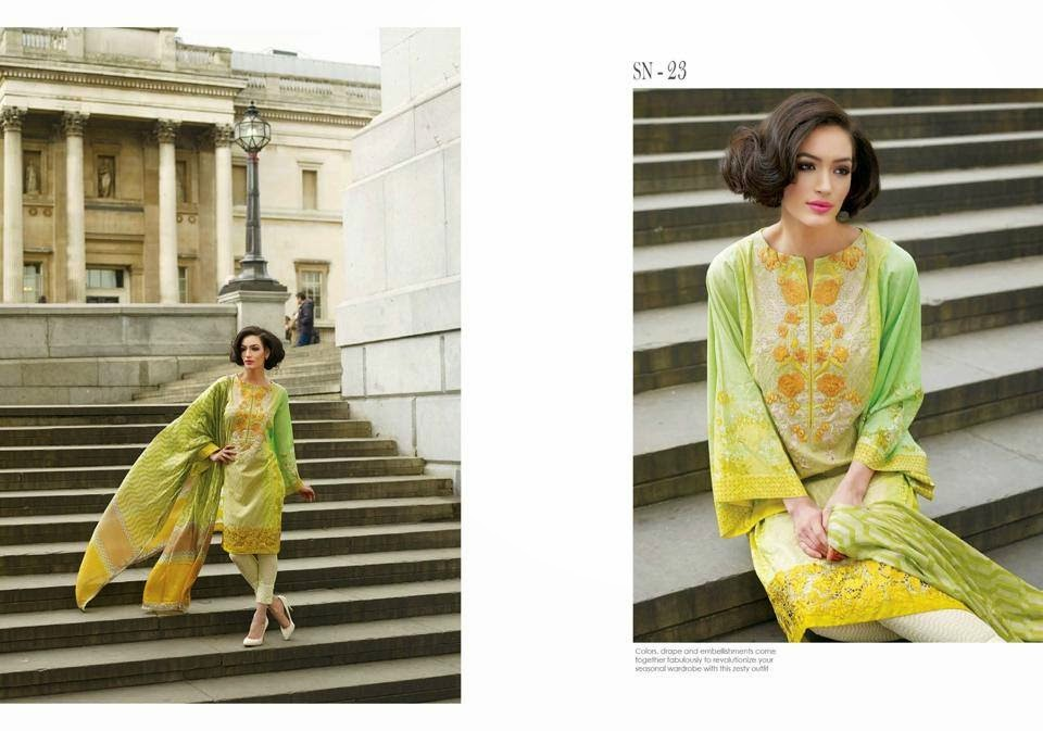 Sobia Nazir Trendy Summer wear Lawn Dresses 2015