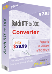 Download Batch RTF to DOC converter