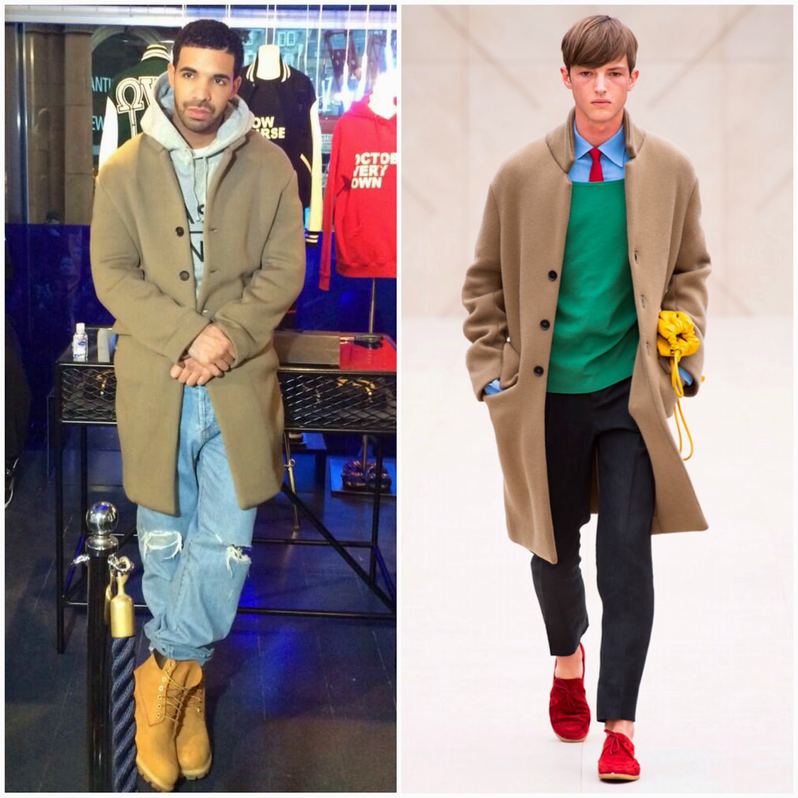 Drake in Burberry Prorsum - 'October's Very Own' Launch at Browns