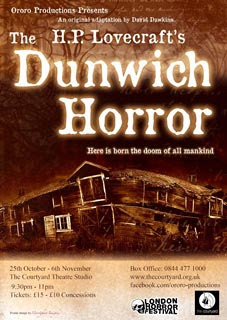 The Dunwich Horror, 2011, locandina teatrale